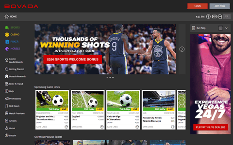 Bovada Review - A Popular Sportsbook Focusing on the USA